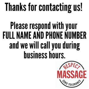 Respect Massage text message response